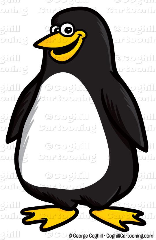 540x829 Cartoon Penguin Clip Art Stock Illustration