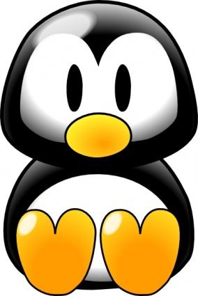 284x425 Cute Baby Penguin Clipart