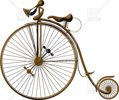 400x336 Grungy Old Fashioned Bicycle With A Large Front Wheel (Penny
