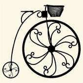 170x170 Vintage Bicycle Silhouette Clip Art Penny Farthing Illustrations
