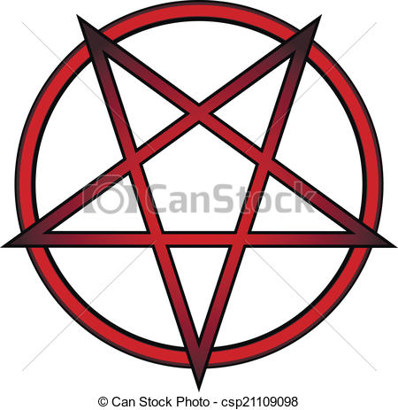 450x463 Pentagram Icon On White Background. Vector Illustration. Eps