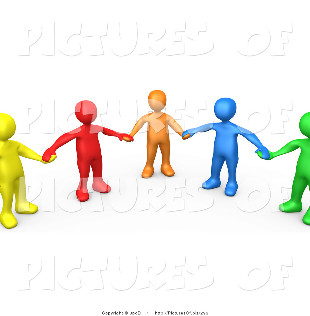 1024x1044 Clipart Of 3d Colorful People Holding Hands In Support By 3pod