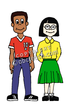 300x480 Clip Art People Girl Amp Boy Clipart Panda