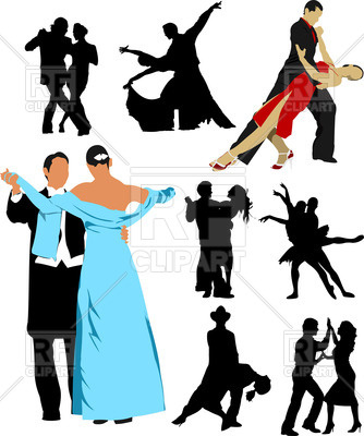 334x400 Silhouettes Of Dancing People Royalty Free Vector Clip Art Image