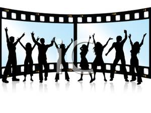 300x225 A Group Of People Dancing In Front Of A Filmstrip