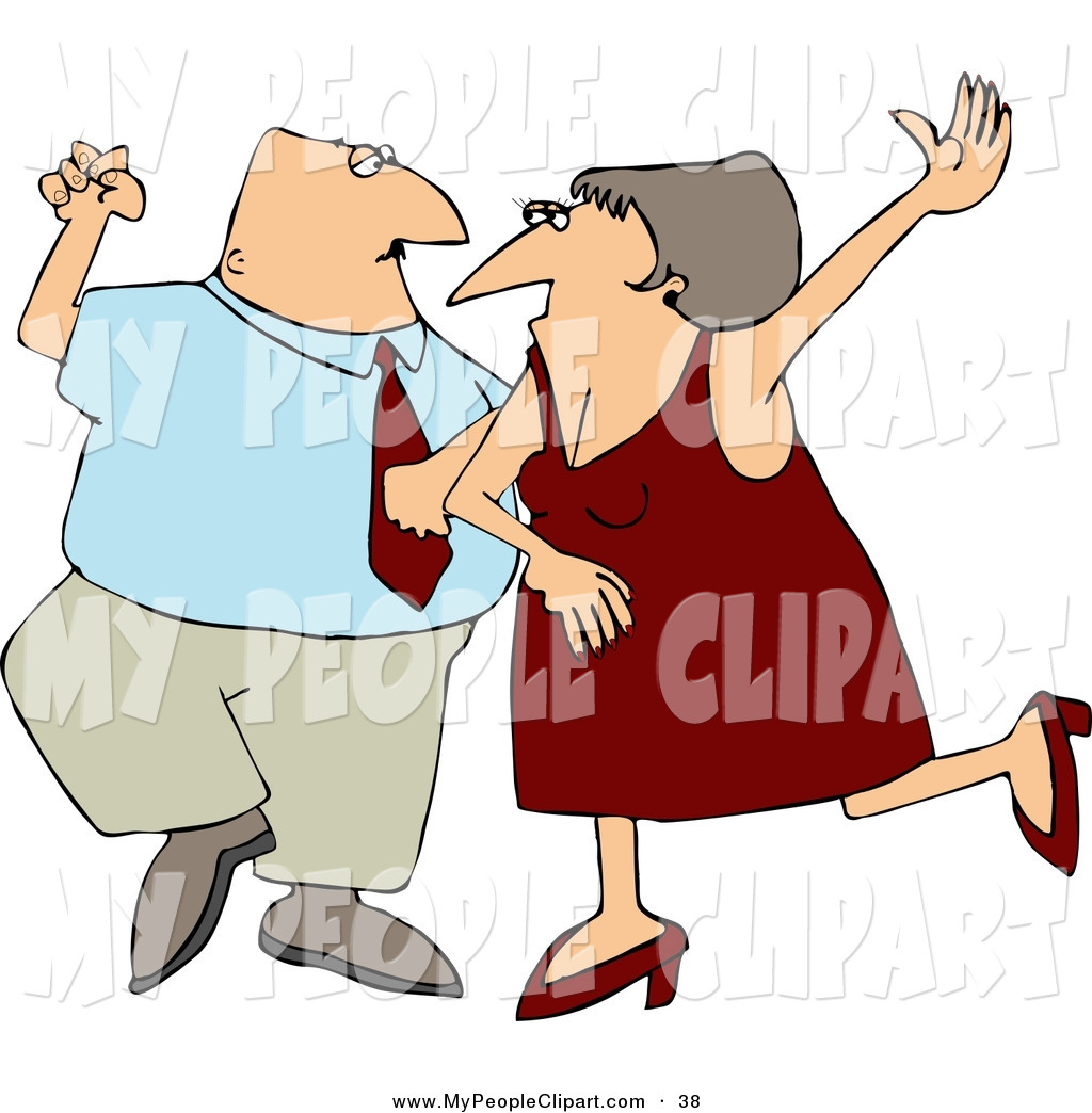 1024x1044 Clip Art Of A Cheerful Man And Woman, Husband And Wife Dancing