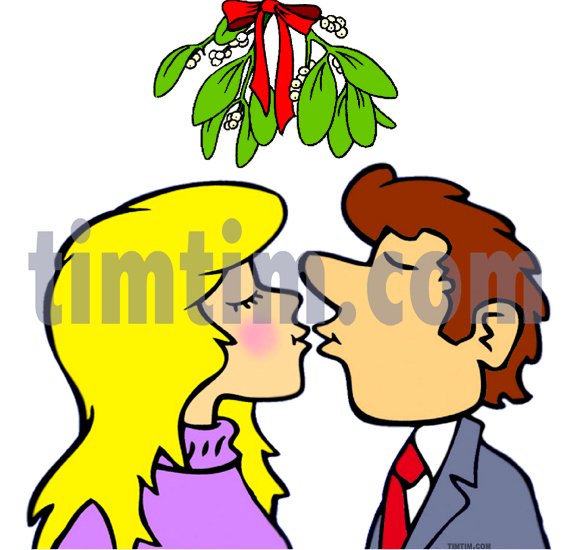 571x550 Collection Of Mistletoe Drawing Kissing High Quality, Free