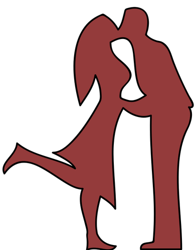 391x500 7118 Couple Kissing Silhouette Clip Art Public Domain Vectors