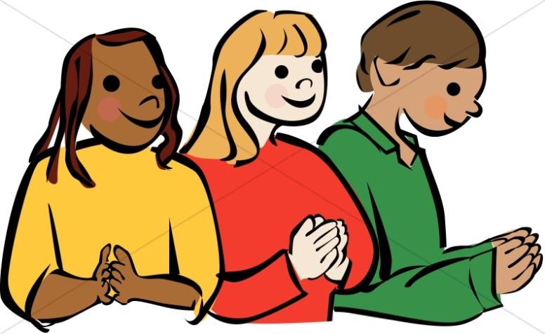 776x476 Culturally Diverse Children Praying Prayer Clipart