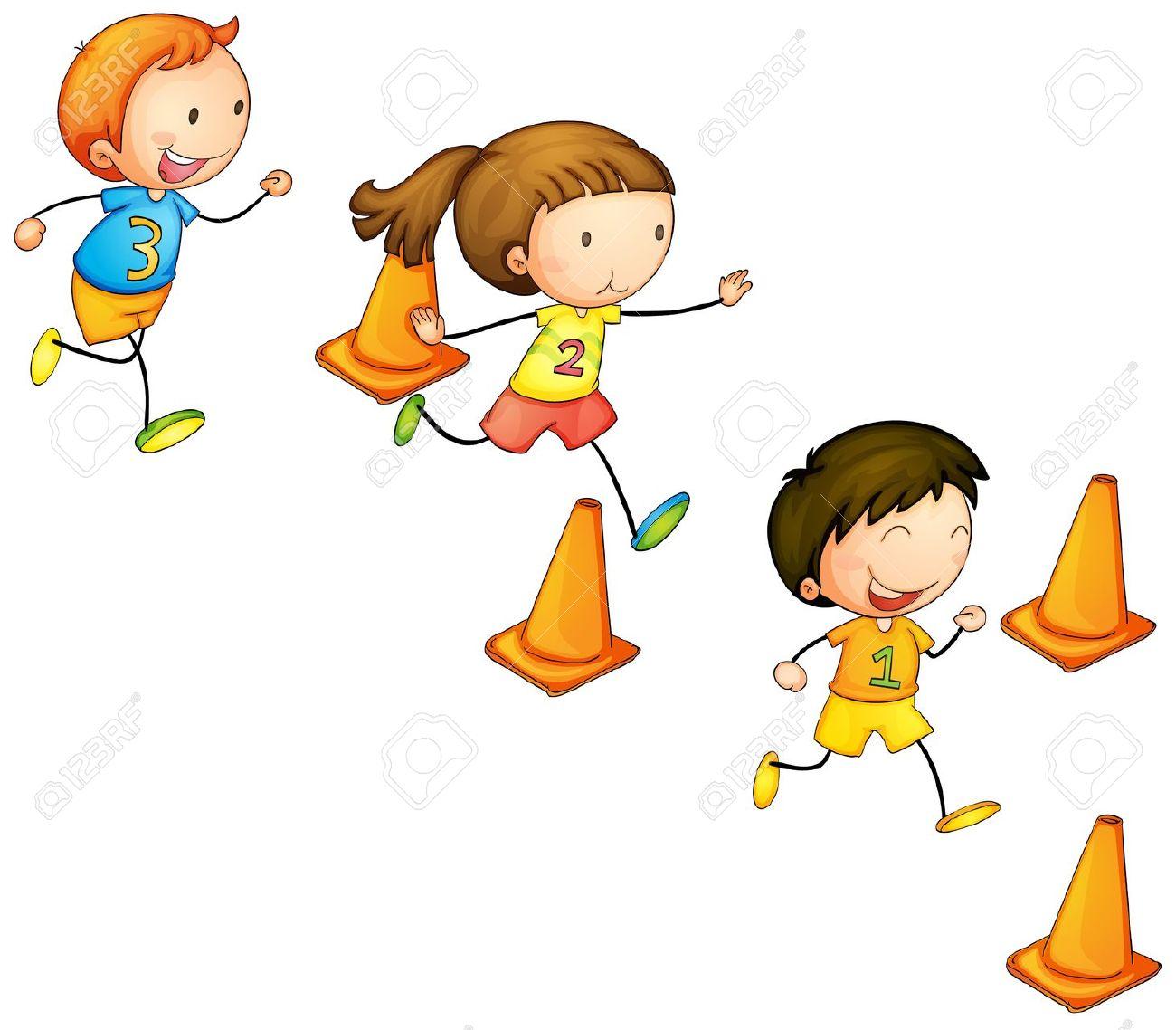 1300x1138 Kids Running Clipart