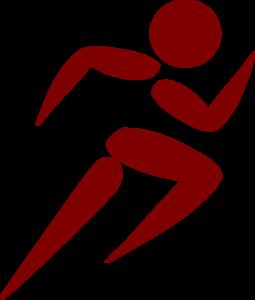 255x300 Man Running Red Clip Art