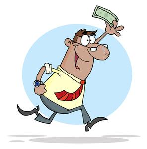 296x300 Money Cartoon Clipart Image