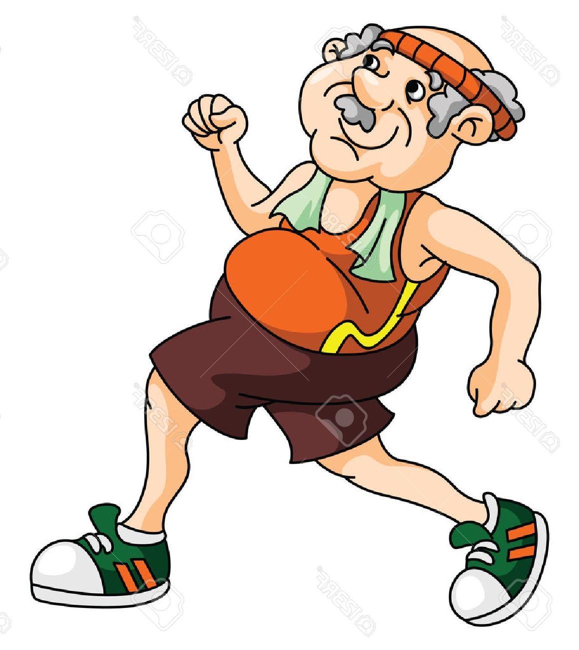 1157x1300 Best Hd Old Man Running Clip Art Library