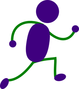 264x298 Running Man Purple And Green Clip Art