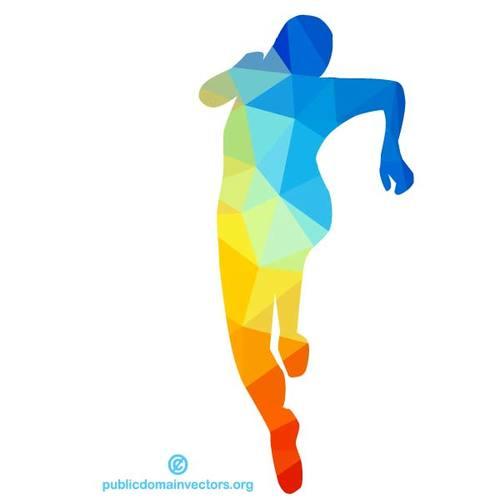 500x500 Running Man Silhouette Clip Art Public Domain Vectors