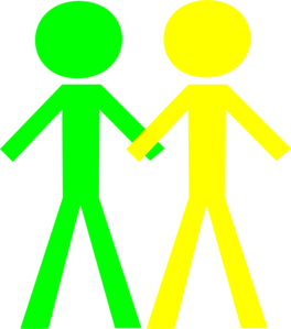 264x299 Clipart Of Two People