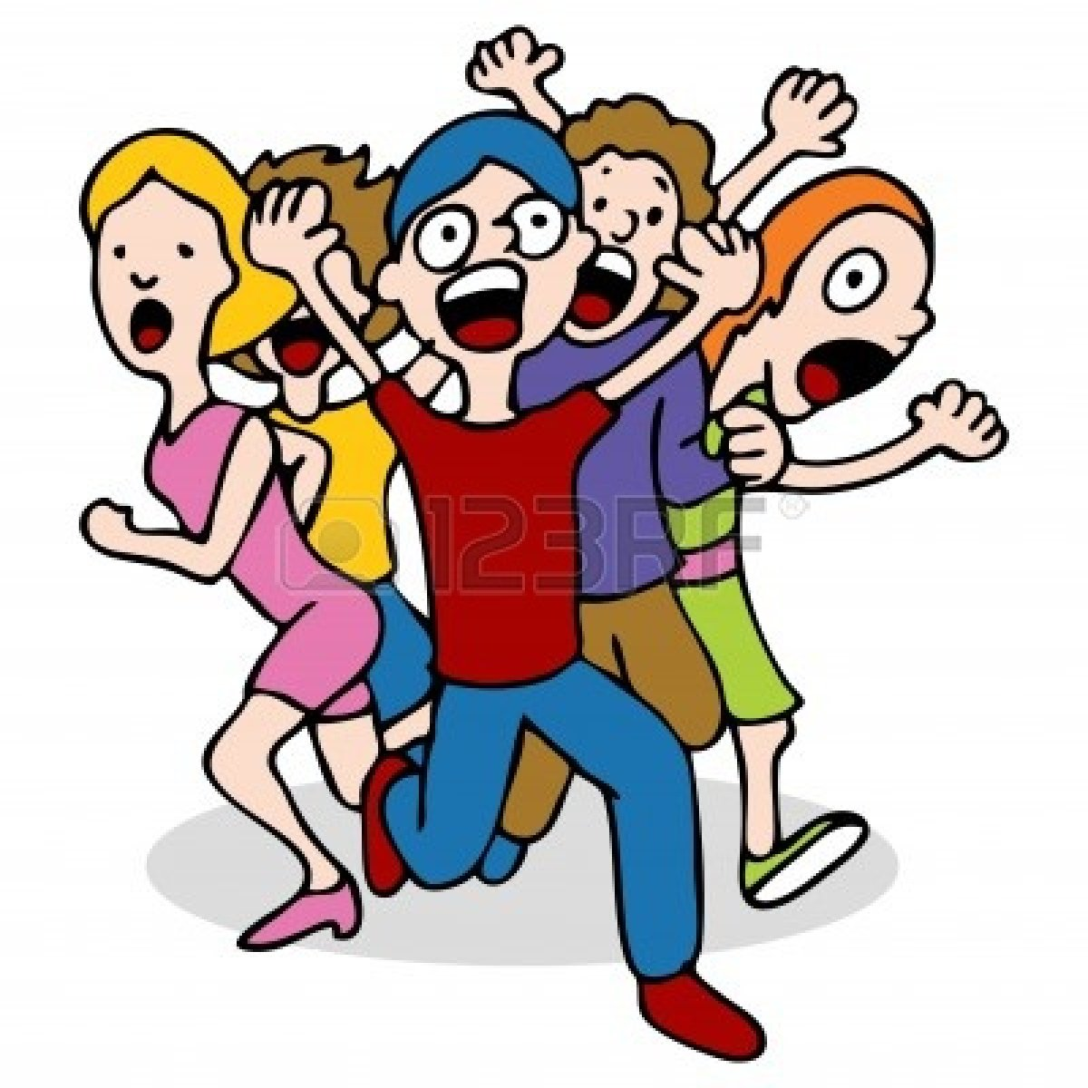 1200x1200 People Clipart Running Away
