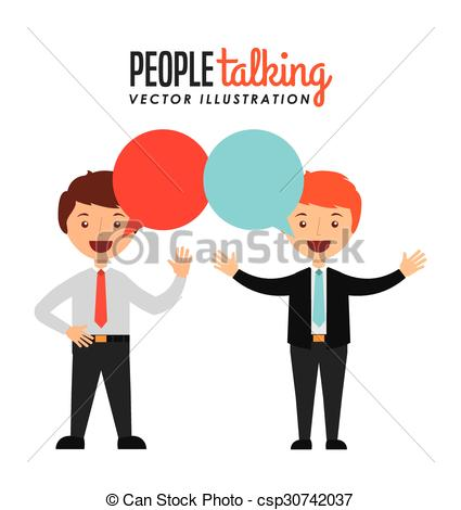 425x470 People Talking Design, Vector Illustration Eps10 Graphic Vectors