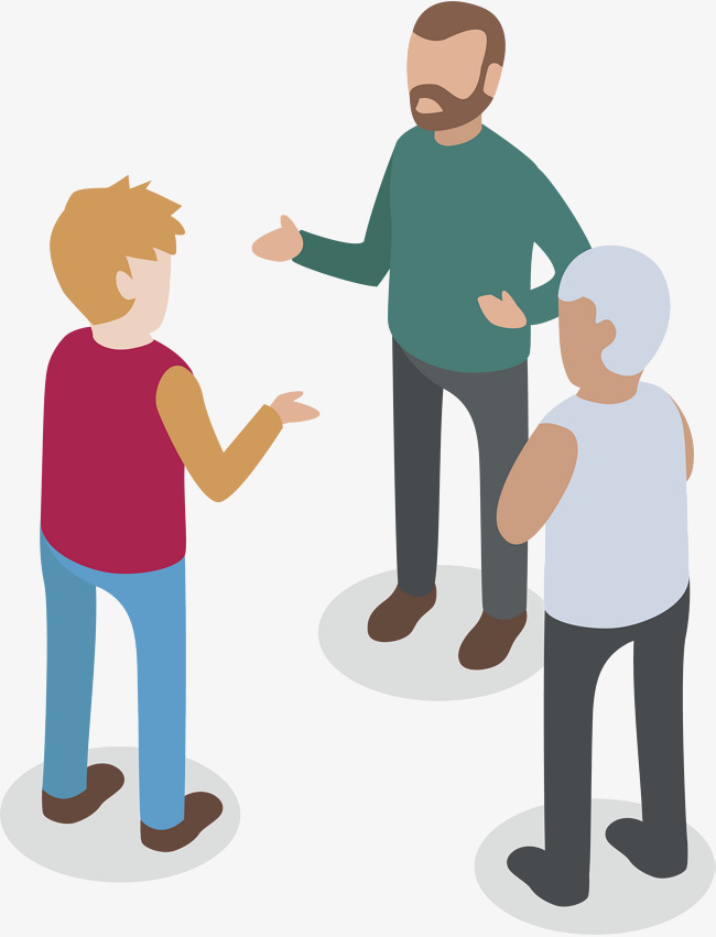 650x851 Three People Talking, Vector Png, Three Person Dialogue, Discuss