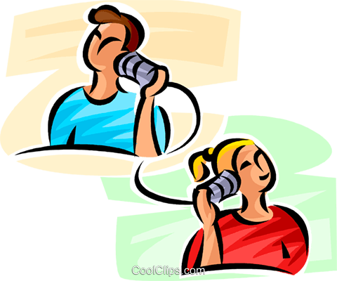 480x400 People Talking On The Telephone Royalty Free Vector Clip Art