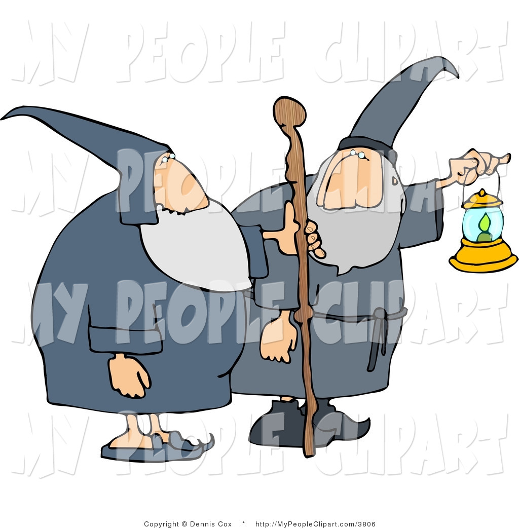 1024x1044 Clip Art Of Two Wizards, One Holding A Lantern Out And The Other