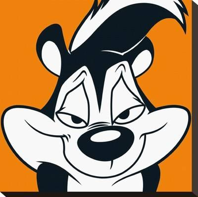 400x398 Pepe Le Pew Stretched Canvas Print
