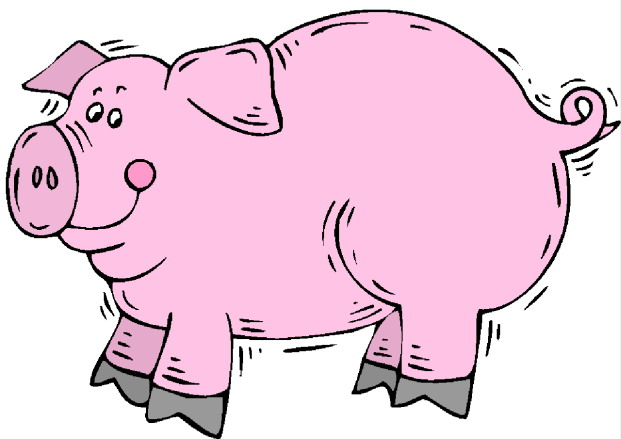 621x439 Clipart Of A Pig