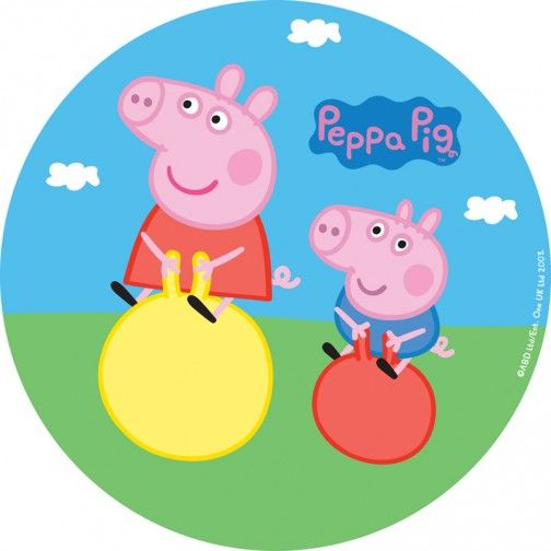 504x504 Peppa Pig Round Prints For Cakes Clip Art