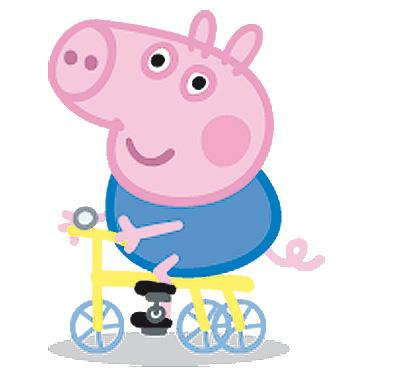395x381 George Pig En Bicicleta Cumple Peppa Pig George