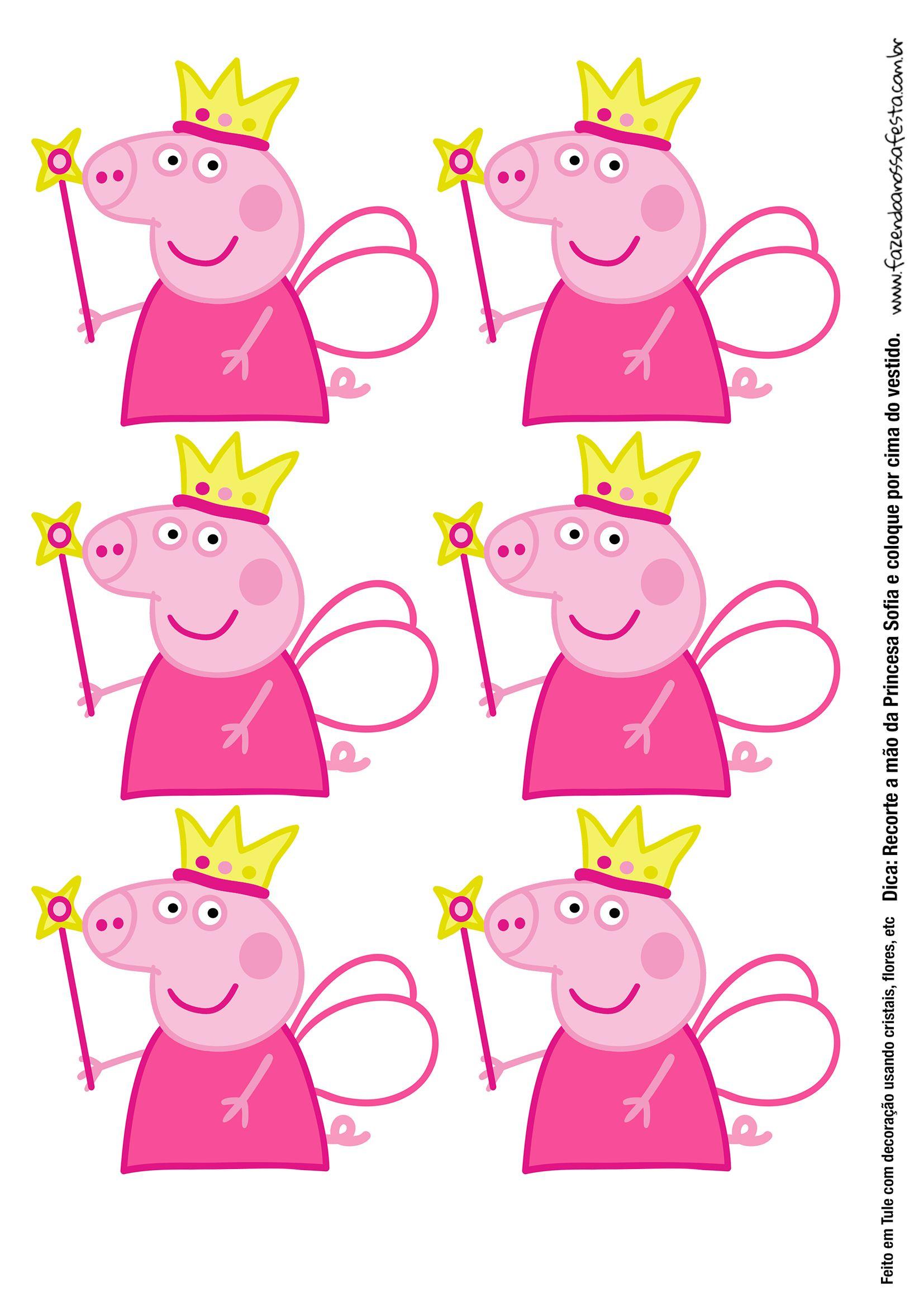 1654x2339 Molde Peppa Pig Princesa Para Tubete Com Tule Pig Party, Pig