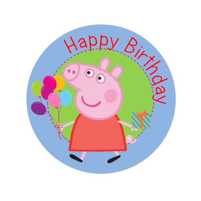 700x700 Peppa Pig Birthday Edible Image Shore Cake Supply