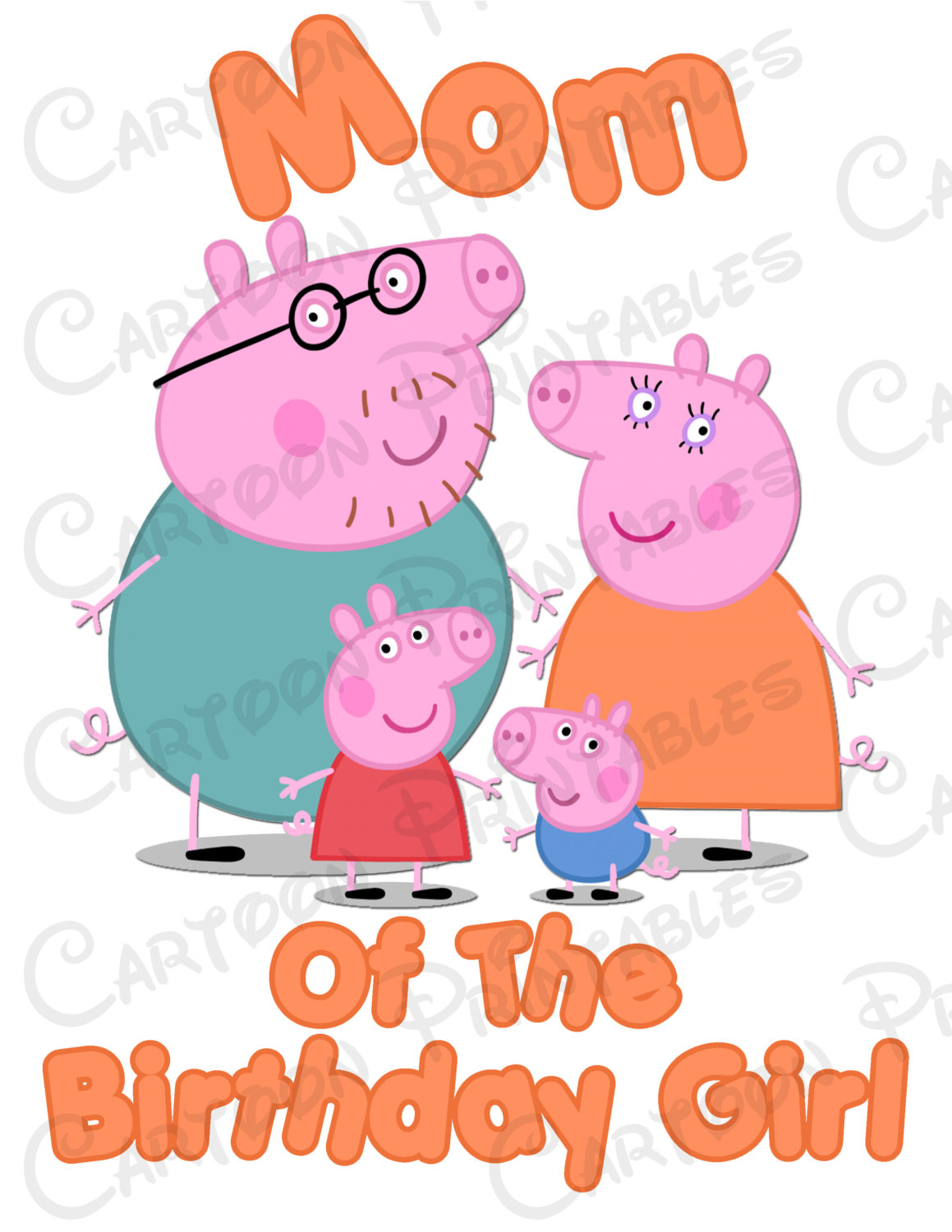 1159x1500 Peppa Pig Mom Of The Birthday Girl Image Printable Clip Art Iron