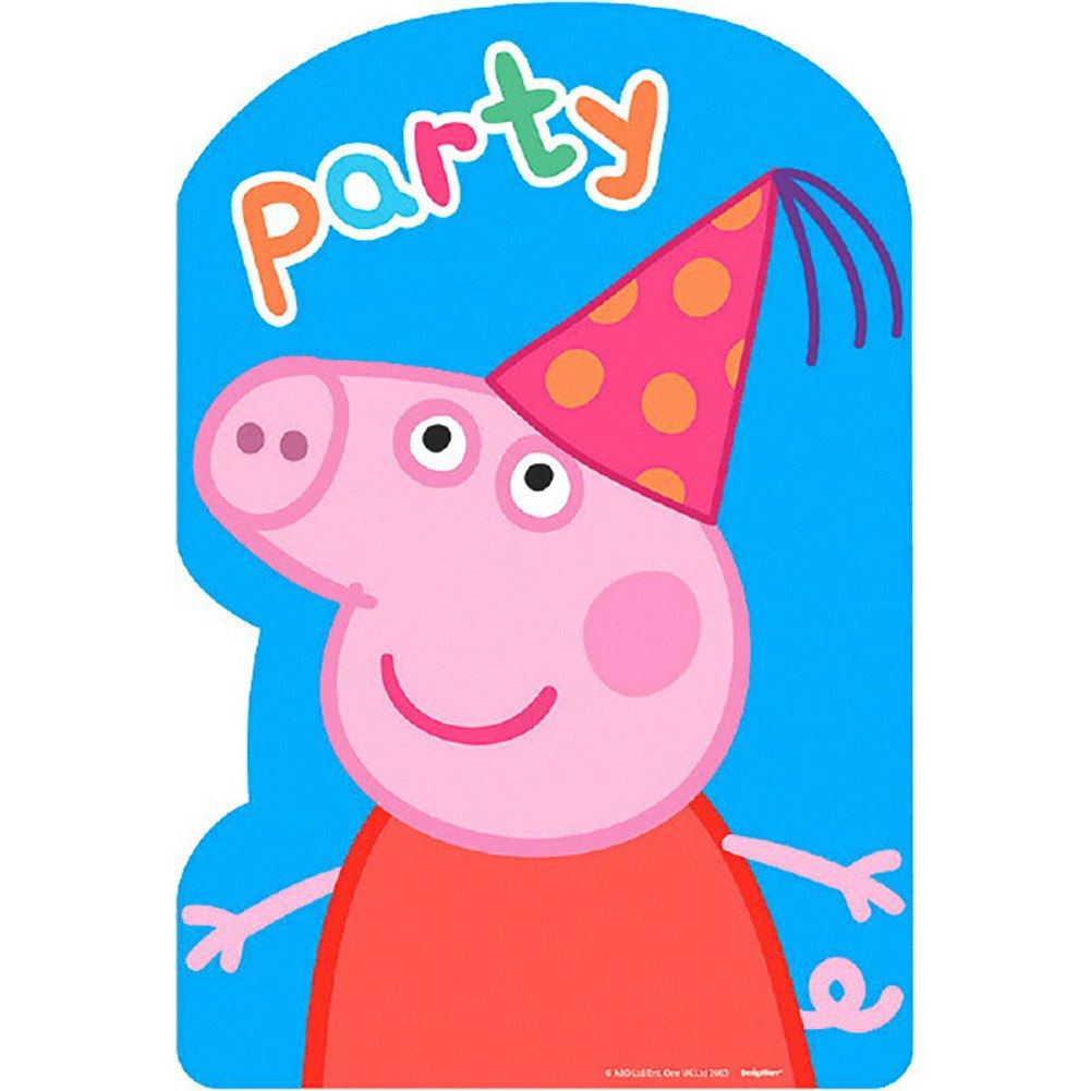 1001x1001 Peppa Pig Postcard Invitations [8 In Package]