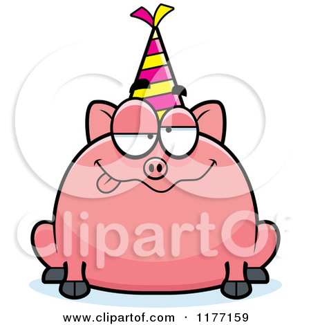 450x470 Birthday Pig Clipart