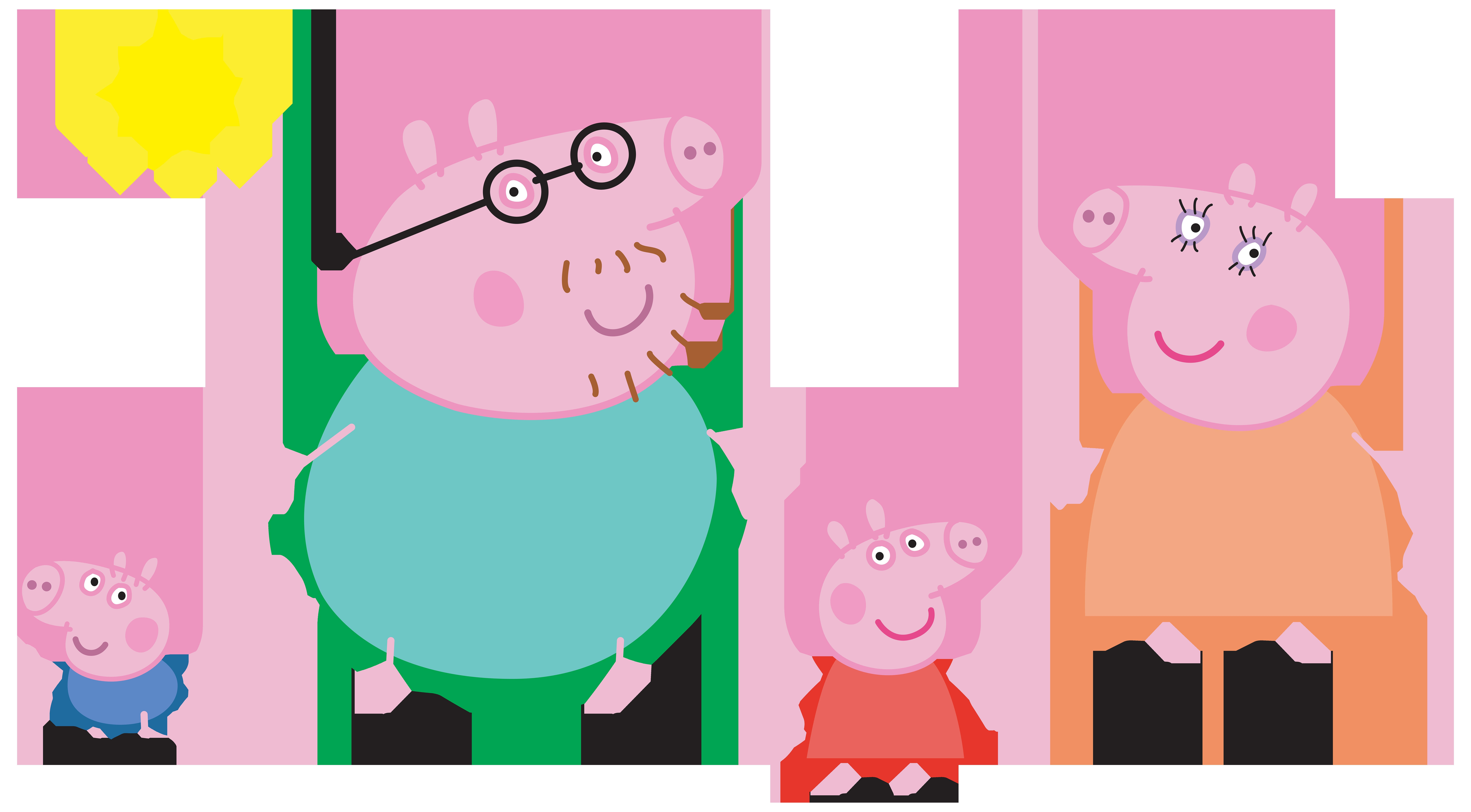 8000x4419 Peppa Pig Clip Art Download