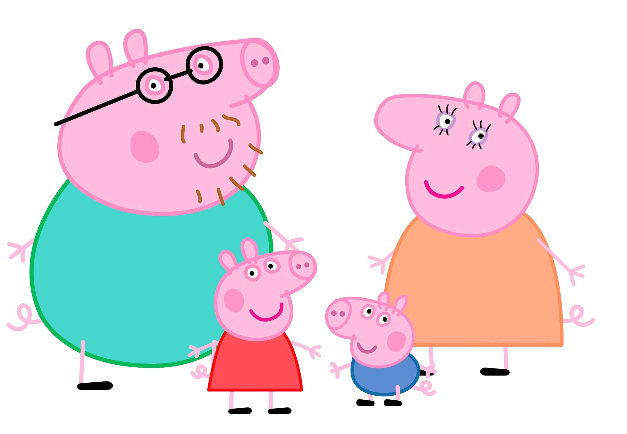 2121x1470 Peppa Pig Family Logo Transparent Png Clip Art Image Png M