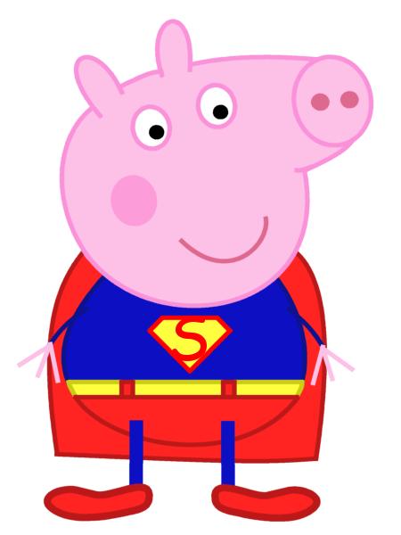 450x600 Peppa Pig George As Superman By Dev Catscratch