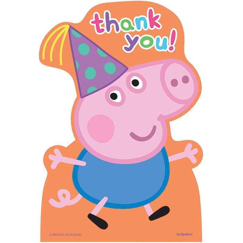 800x800 Peppa Pig Thank You Cards