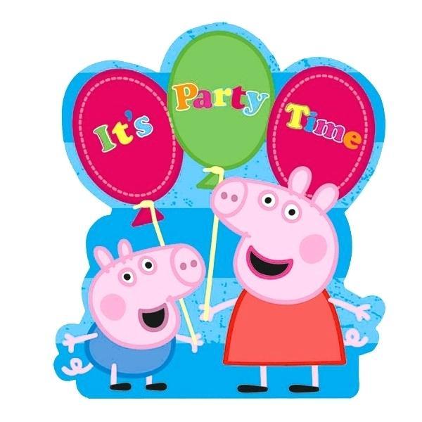600x600 Peppa Pig Birthday Card Template Greeting Cards Design