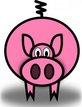 326x425 Pink Pig Clip Art Free Vector In Open Office Drawing Svg Svg
