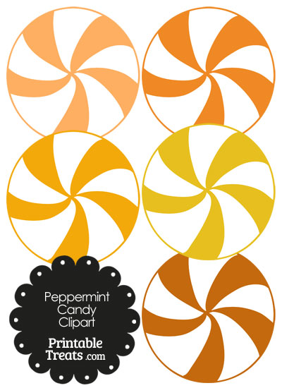 400x550 Orange And White Peppermint Candy Clipart Printable