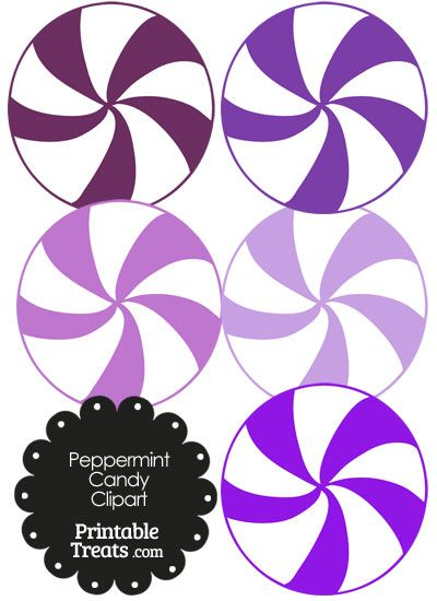400x550 Purple And White Peppermint Candy Clipart