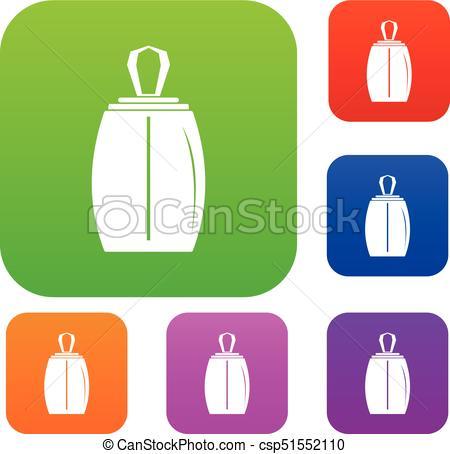 450x454 Elegant Woman Perfume Bottle Set Color Collection. Elegant