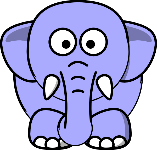 600x573 Periwinkle Elephant Clip Art