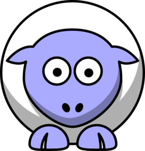 288x300 Sheep Looking Straight White With Periwinkle Face And White Nails
