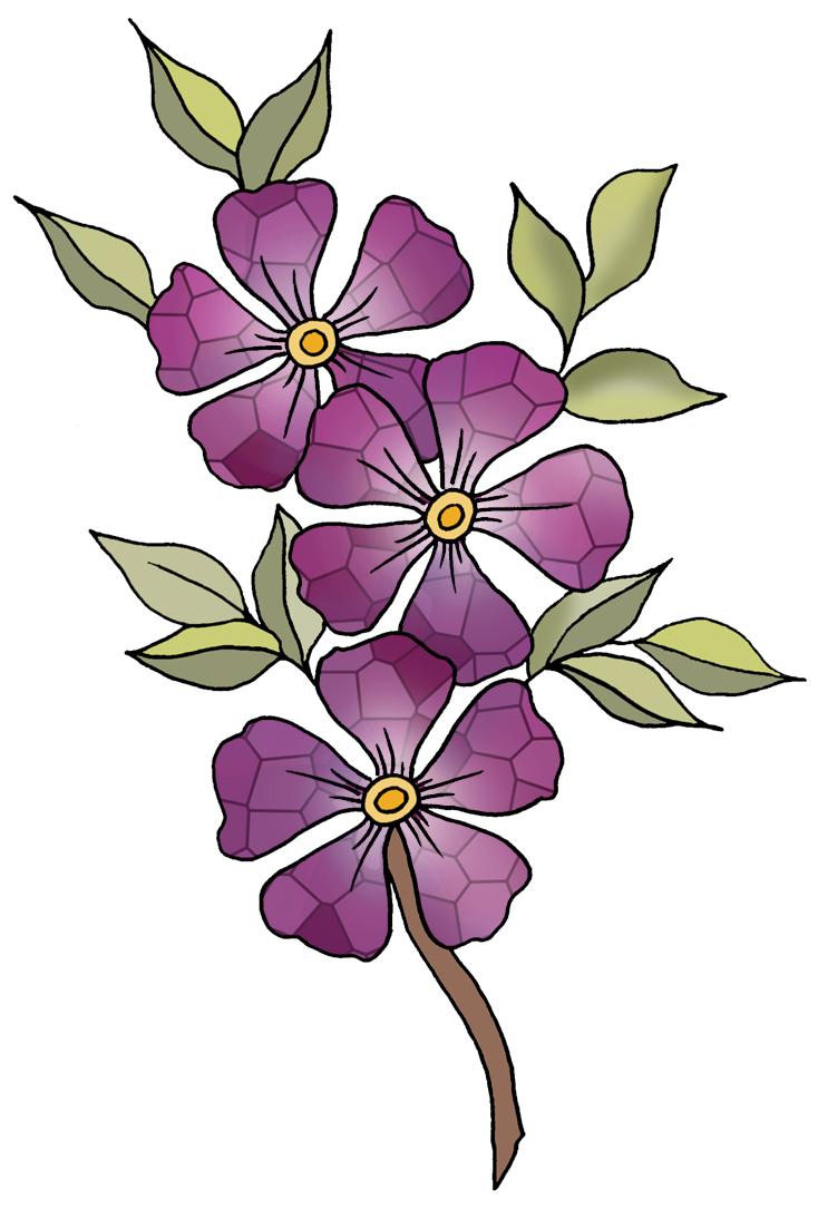 734x1085 Violet Cliparts