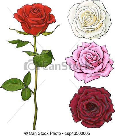 399x470 Clipart Side View Flower