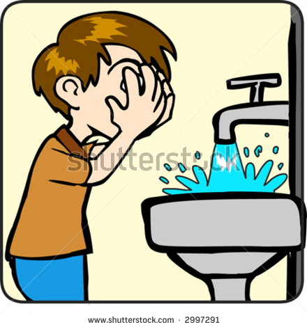 440x470 Washing Hand In Morning Clipart