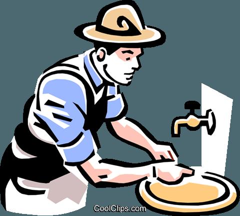 480x431 Man Washing Hands Royalty Free Vector Clip Art Illustration
