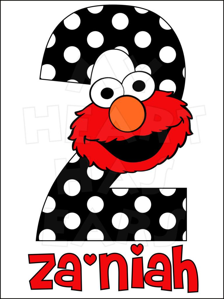 769x1024 Elmo Birthday Any Name And Number Personalized Digital Clip Art